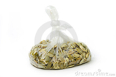 Seeds in clear bag