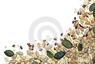 Seeds, grains and cereals