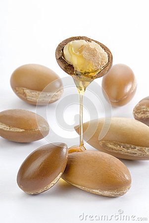 Free Seeds Of Argan On White,a Close Up Royalty Free Stock Photography - 35006717