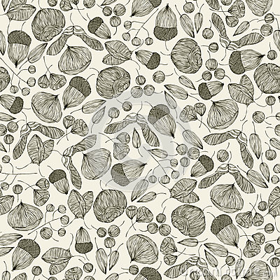 Seeds seamless pattern.