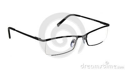 Seeing glasses on white