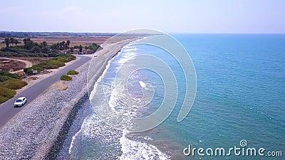 Seeküste Zypern - Luftfahrzeuge 4k stock footage