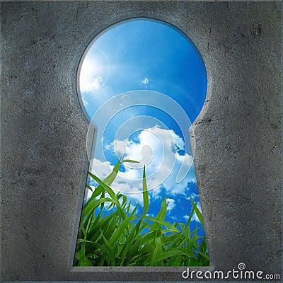 Seen through the keyhole