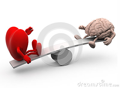 Seesaw with heart and brain