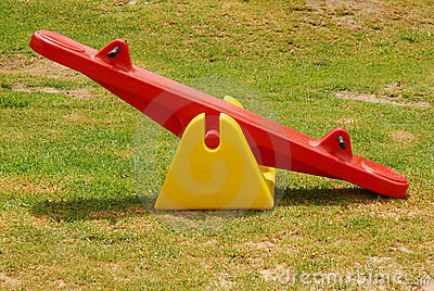 Seesaw in park royalty free stock image image 8124266 for Seesaw plans designs