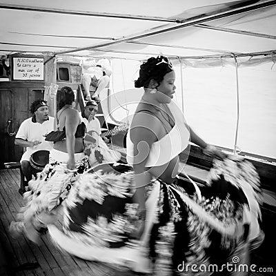 Sega dance, Mauritius island Editorial Stock Photo