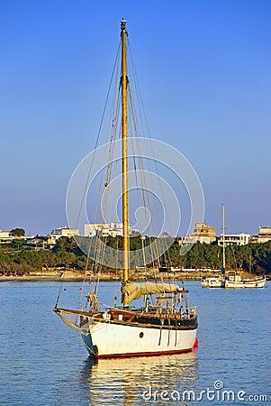 Segelbåt i Majorca