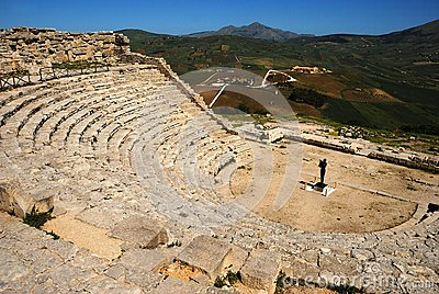 Segesta (Sicily) - The Theater Stock Images - Image: 24740484