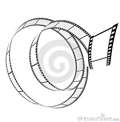Segment blank film rolled up