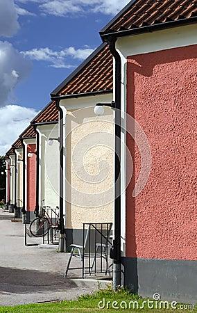 Segment houses vertical background