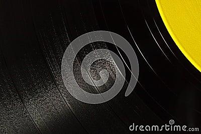 Segment of vinyl record