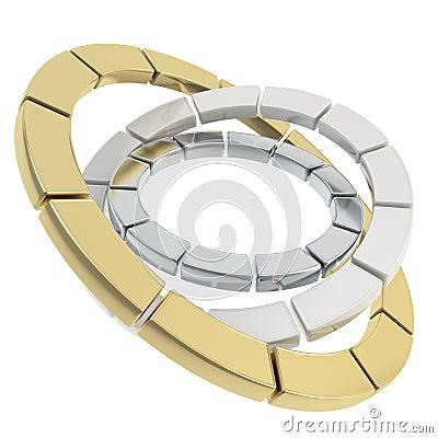 Segmented circle composition