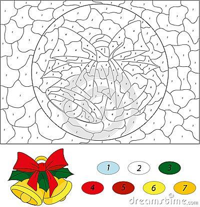 Segnalatori acustici di natale colore dal gioco educativo - Colore per numero stampabili ...