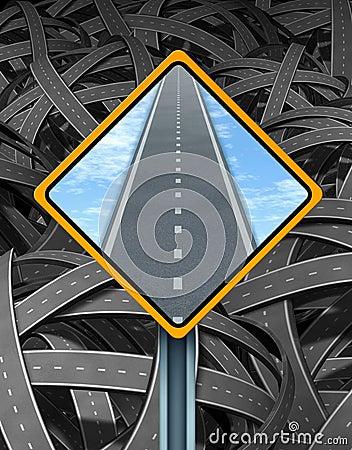 Segnale stradale della soluzione
