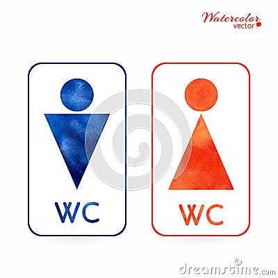 Segni toilette spogliatoio maschio femmina wc fotografia stock immagine 45227639 - Etichetta bagno donne ...