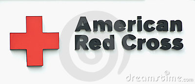 Segno americano della croce rossa Immagine Editoriale