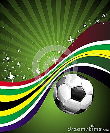 Segno di gioco del calcio - bandierina della Sudafrica