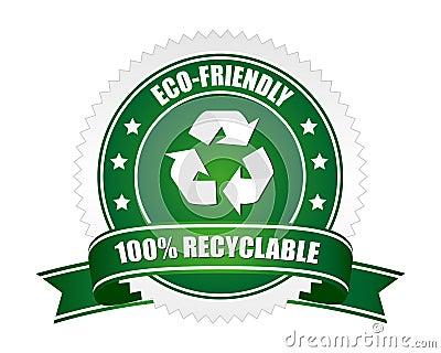 Segno riciclabile di 100