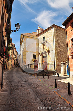 Segovia, Castile, Spain. City alley