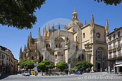 Segovia Cathedral - Castilla-y-Leon - Spain. Editorial Stock Image