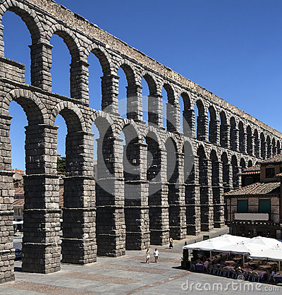 Segovia Roman Aquaduct - Spain Editorial Image