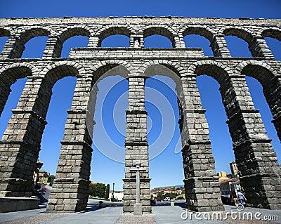 Segovia Roman Aquaduct - Spain Editorial Image