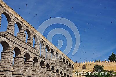 Segovia roman aqueduct. Castile region, Spain