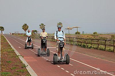 Segway tour Editorial Photography