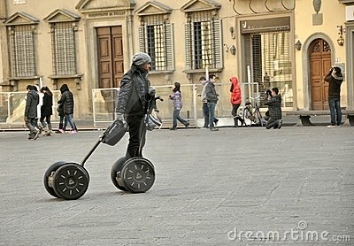 Segway transportation in Italy Editorial Image
