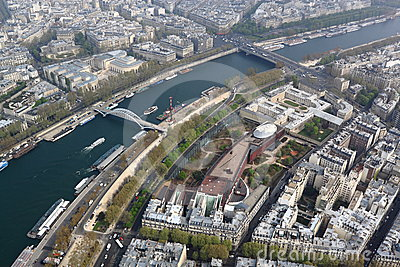 Seine River Aerial View