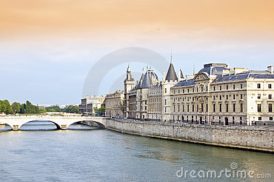 Seine River and Bridge
