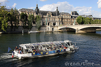 The Seine river in Paris Editorial Image