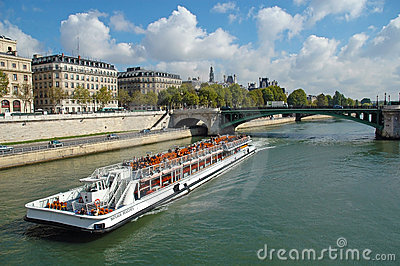 Seine river in Paris, France Editorial Stock Photo
