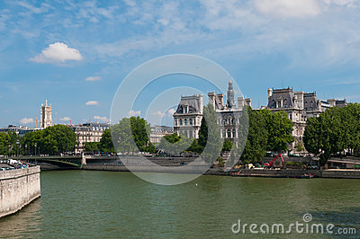 The Seine Editorial Stock Image