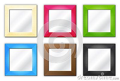 Seis marcos espejos imagenes de archivo imagen 17942974 for Fotos de marcos de espejos