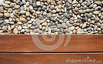 Seixo e madeira