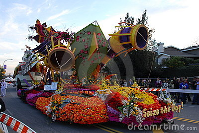 Seize the day float at the 122nd tournament of ros Editorial Image