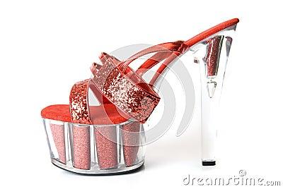 Seksowni czerwoni buty