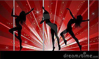 Seksowny tancerza słup
