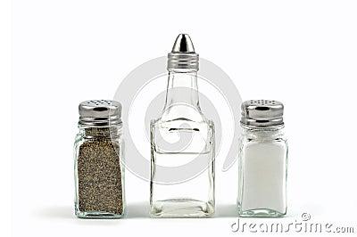 Sel poivre vinaigre photo stock image 16550720 - Desherbant vinaigre blanc sel ...