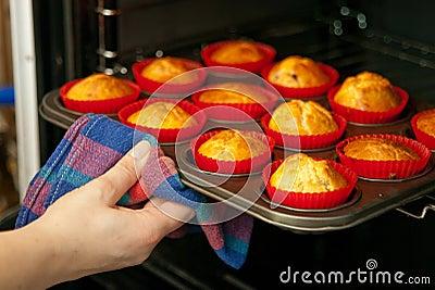 Selbst gemachte Muffins