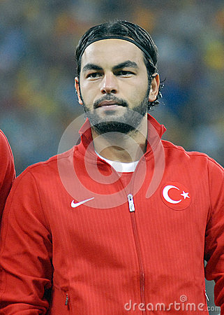 Selcuk Inan in Romania-Turkey World Cup Qualifier Game Editorial Photo