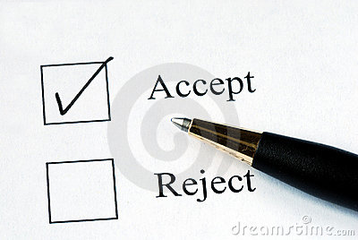 Select the Accept option