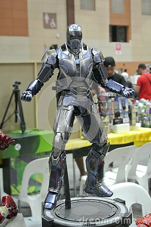 Free Selected Focused Of IRON MAN Character Action Figure From Marvel Iron Man Comics And Movies. Stock Photo - 129296700