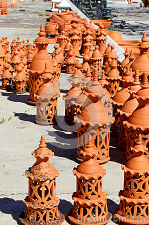 Algarve terracotta pottery chimneys for sale
