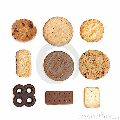 Selection of biscuits
