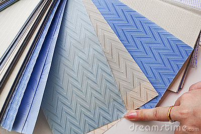 Selection of curtain blinds fabric