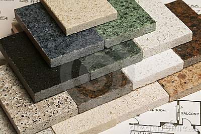 Selection of granite stone