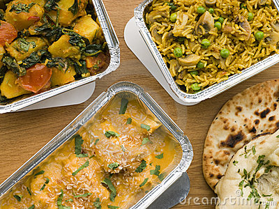 Selection Indian Take Away Dishes