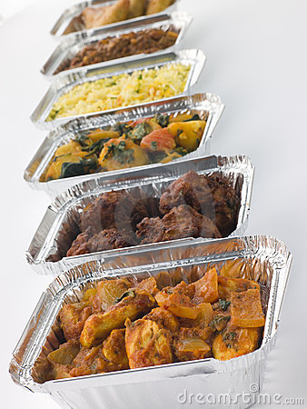 Free Selection Of Indian Take Away Dishes Royalty Free Stock Photography - 6879017